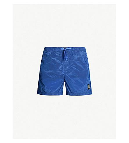 STONE ISLAND Drawstring-waist shell swim shorts (Pervinca(blue)