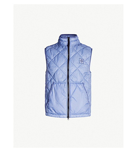 STONE ISLAND Quilted shell gilet (Lavanda/lilac
