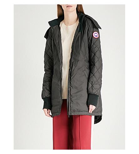 CANADA GOOSE Stellarton hooded shell-down coat (Black/black