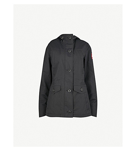 CANADA GOOSE Reid hooded drill jacket (Black