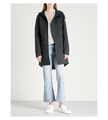 CANADA GOOSE Brossard hooded drill jacket (Black