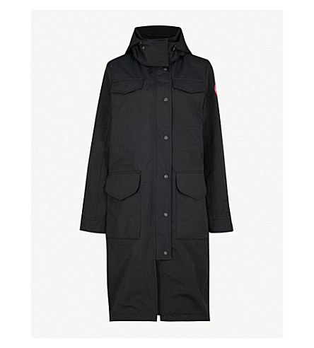 CANADA GOOSE Portage hooded shell parka jacket (Black
