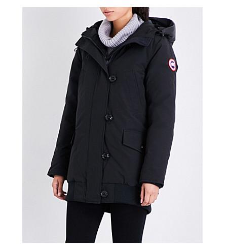 CANADA GOOSE Finnegan twill padded parka coat (Black