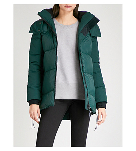CANADA GOOSE White horse parka (Algonquin+green
