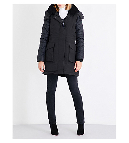 CANADA GOOSE Elwin padded shell-down parka jacket (Black