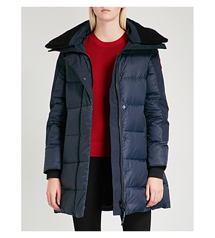 CANADA GOOSE Altona quilted shell-down parka jacket (Admiral+blue