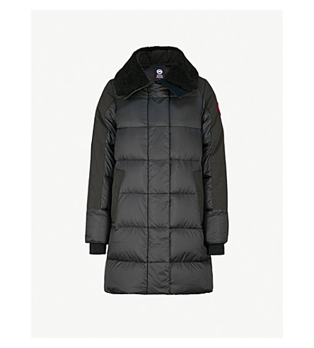 CANADA GOOSE Altona quilted shell-down parka jacket (Black