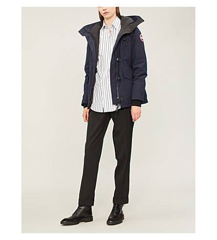CANADA GOOSE Rideau padded parka jacket (Admiral+blue