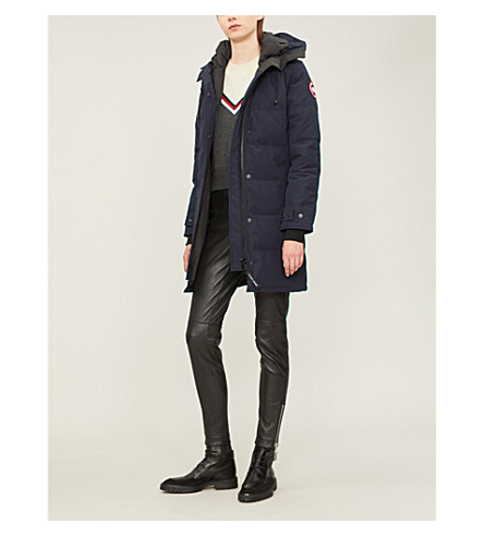 CANADA GOOSE Shelburne shell and down parka coat (Admiral+blue