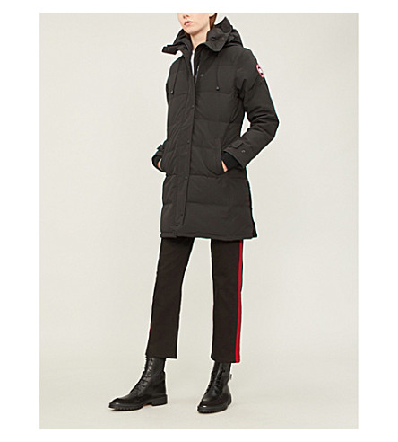 CANADA GOOSE Shelburne shell and down parka coat (Black