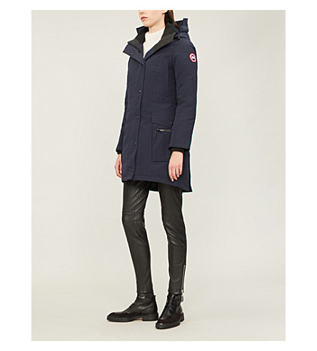 CANADA GOOSE Kinley twill padded parka coat (Admiral+blue