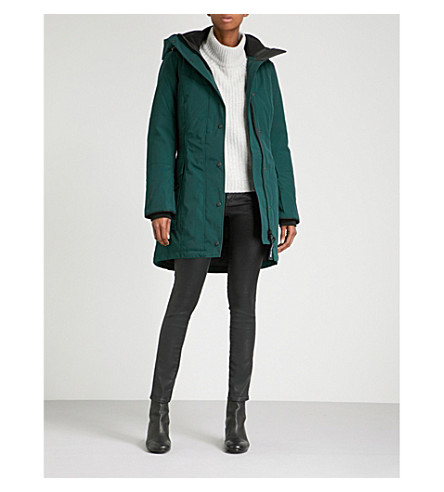 CANADA GOOSE Kinley twill padded parka coat (Algonquin+green