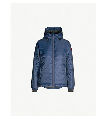 CANADA GOOSE Camp hooded quilted jacket (Admiral blue/ black