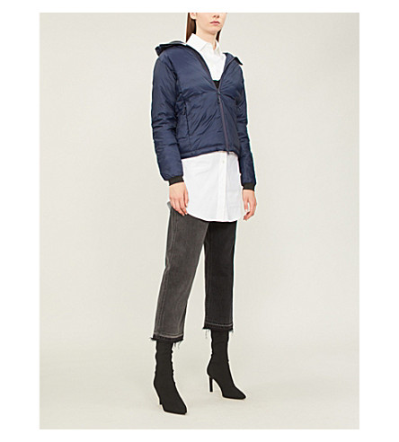 CANADA GOOSE Camp hooded quilted jacket (Admiral+blue/+black