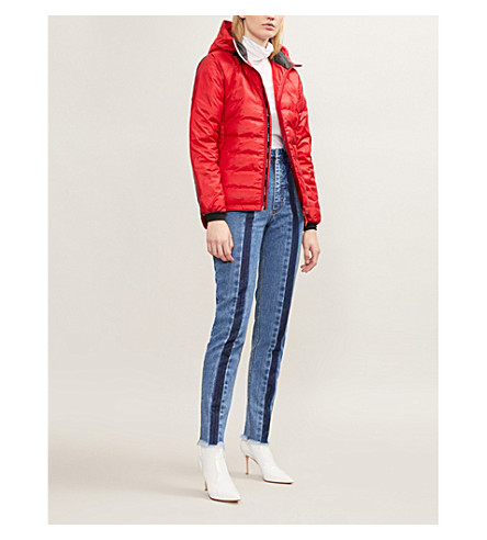 CANADA GOOSE Camp hooded quilted jacket (Red/black