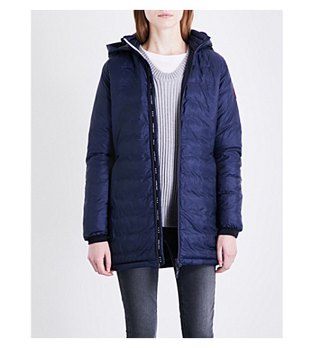 CANADA GOOSE Camp hooded quilted shell jacket (Admiral+blue