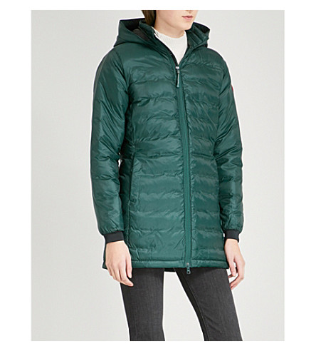 CANADA GOOSE Camp hooded quilted shell jacket (Algonquin green