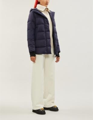 Alliston brand-patch drawstring-hood shell jacket