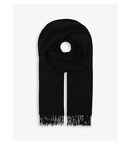 CANADA GOOSE Solid woven scarf (Black