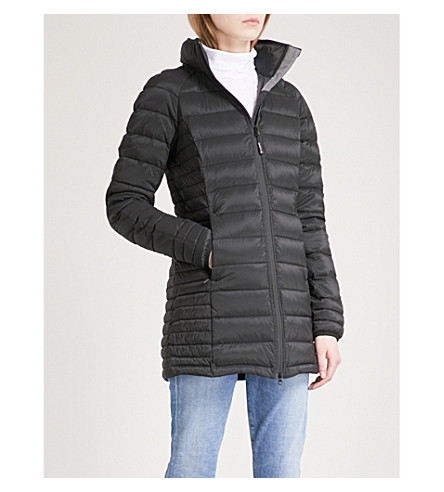 CANADA GOOSE Brookvale hooded shell-down coat (Black/graphite