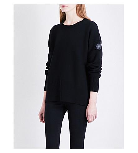 CANADA GOOSE Aleza merino wool jumper (Black