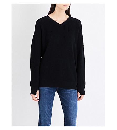 CANADA GOOSE Maurelle merino wool jumper (Black