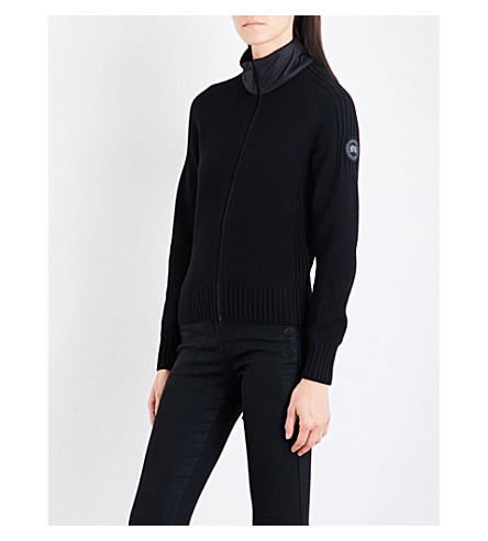 CANADA GOOSE Fulford zip-up merino wool jumper (Black