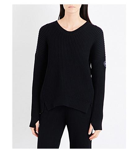 CANADA GOOSE Mackenzie merino wool jumper (Black
