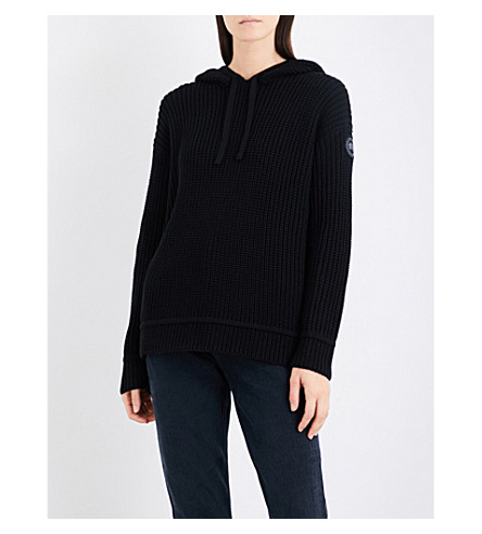CANADA GOOSE Cassidy slouchy-fit merino wool hoody (Black