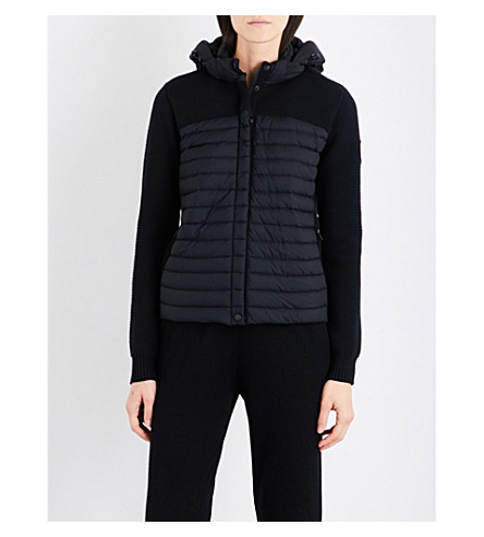 CANADA GOOSE Hybridge merino wool and shell down hoody (Black
