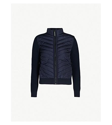 CANADA GOOSE Hybridge merino wool and shell down jacket (Navy