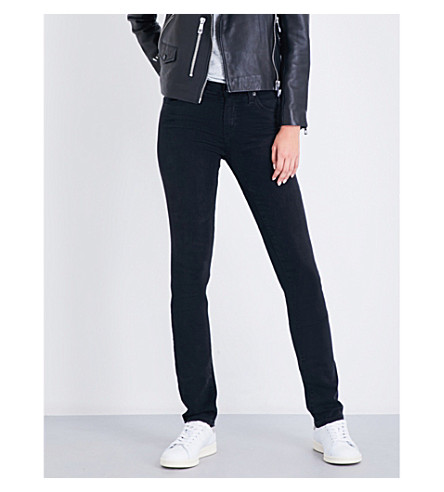 AG The Harper slim straight mid-rise jeans (3+years+obsidian