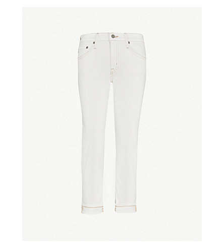 AG The Ex-boyfriend slouchy slim-fit high-rise jeans (1 year neutral white
