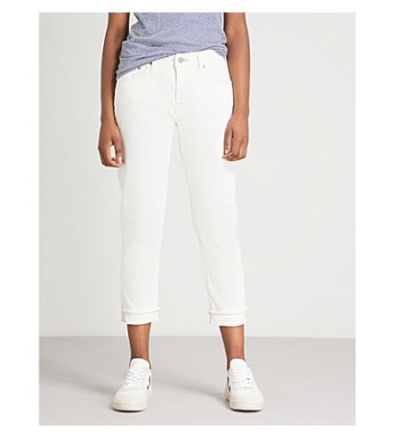 AG The Ex-boyfriend slouchy slim-fit high-rise jeans (1 year neutral white