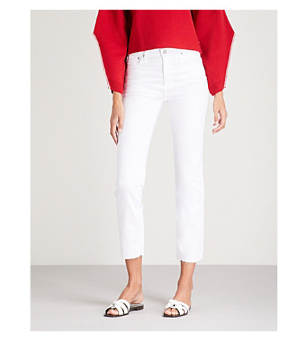 AG The Isabelle straight high-rise jeans (1+year+white