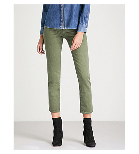 AG The Isabelle straight high-rise jeans (1+year+desert
