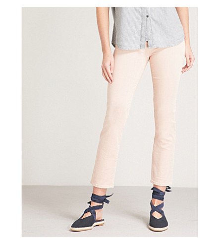 AG The Isabelle straight high-rise jeans (1+year+sulfer+rosy+rouge