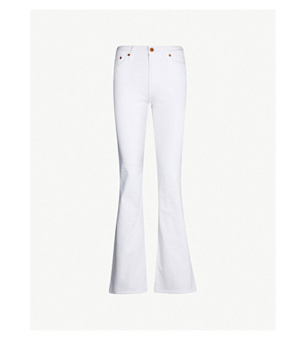 AG Quinne bootcut high-rise jeans (1 year bare white