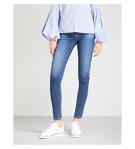 AG The Mila skinny mid-rise jeans (8+years+blue+portrait
