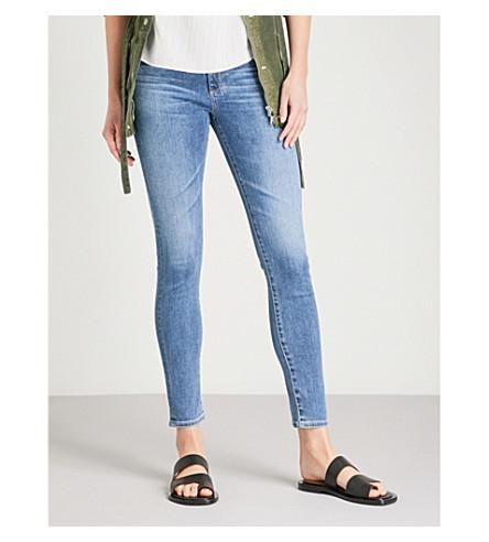 AG The Farrah skinny high-rise jeans (California+blue