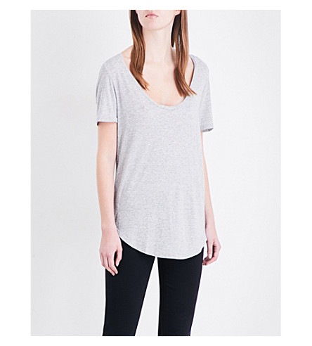 AG The Kiley jersey T-shirt (Heather+grey