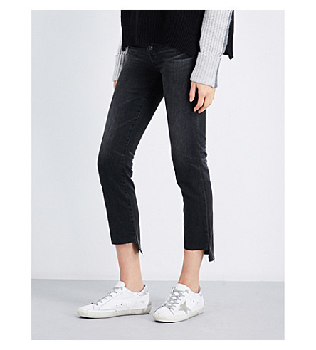 AG The Isabelle stepped-hem straight high-rise jeans (10+years+generation