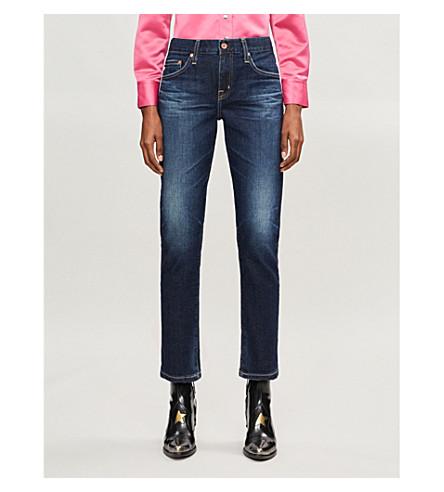 AG The Ex-Boyfriend Slim distressed boyfriend mid-rise jeans
