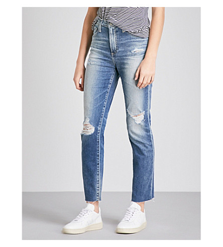 AG Phoebe slim-fit high-rise jeans (15+years+undercool
