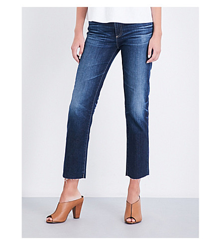 AG The Isabelle straight high-rise jeans
