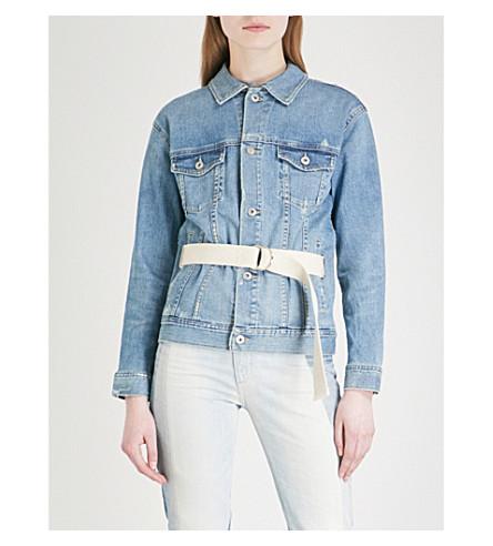 AG Nancy belted stretch-denim jacket (17 years grunge