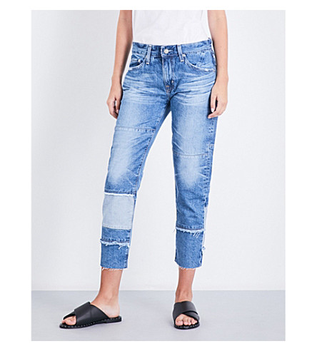 AG The Ex-Boyfriend slim mid-rise jeans (18+years+blue+mosque