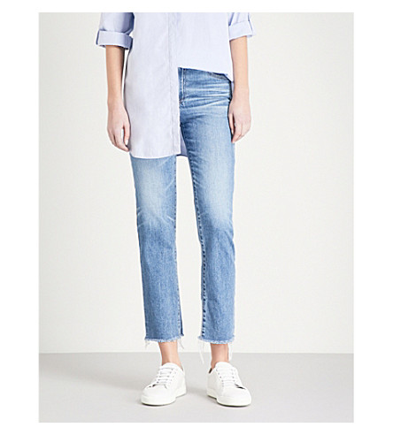AG The Isabelle distressed straight high-rise jeans (14+years+daring