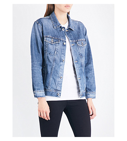AG Nancy Bowie-motif denim jacket (23+years+labyrinth