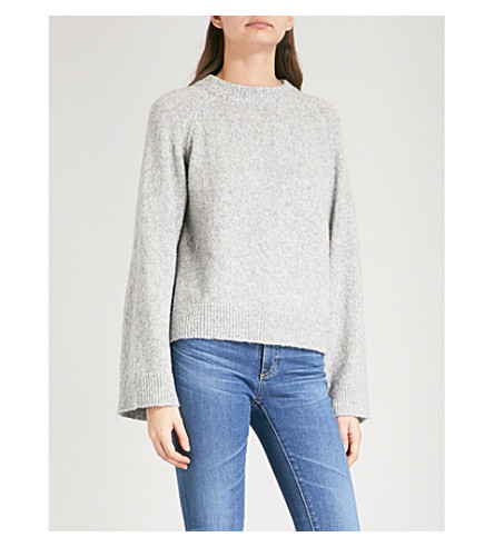 AG The Noelle knitted jumper (Shimmer+heather+grey